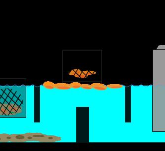 浮いている油脂の掃除