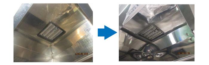 洗浄機フード(内面)